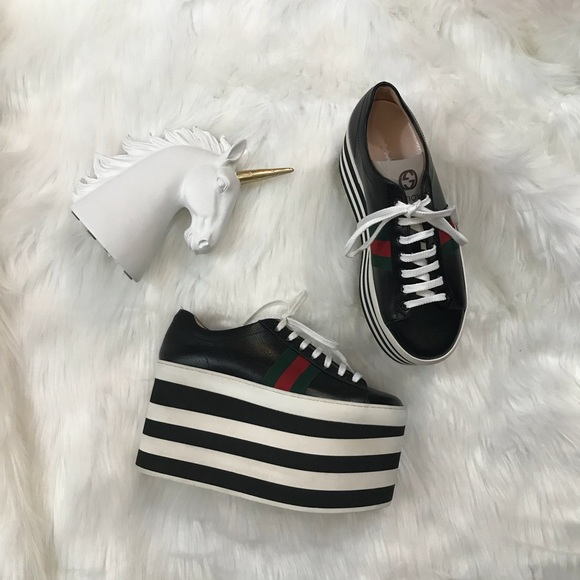a702cca93ed Gucci Peggy leather platform sneaker